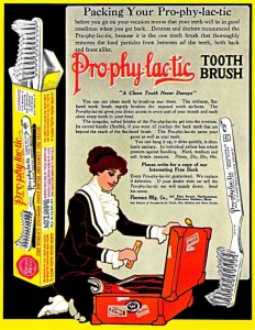 Old Toothbrush Advertisement from 1913