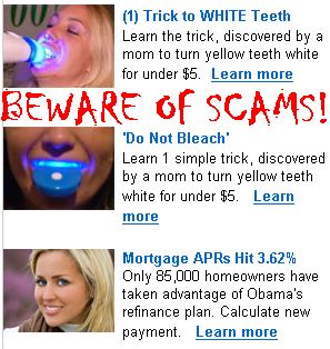 Teeth Whitening Scams: Their Advertisements