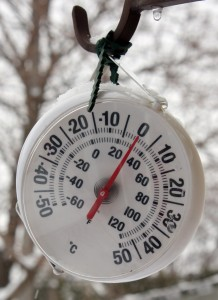 A Thermometer Showing Freezing Temperatures