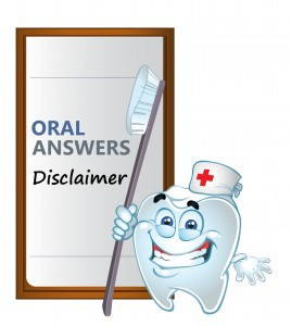 Oral Answers Disclaimer