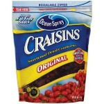 Ocean Spray Craisins Contain Lots of Added Sugar