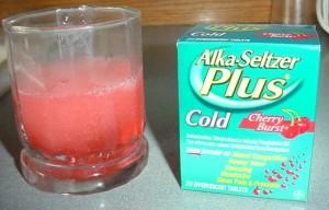 Cherry Alka Seltzer Cold Medicine