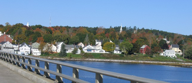 Going over a Bridge on Highway 1 in Maine