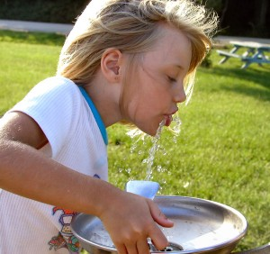 Drinking Fountain Fluoridated Water
