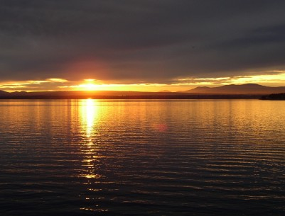 Vermont Sunset Over Lake Champlain