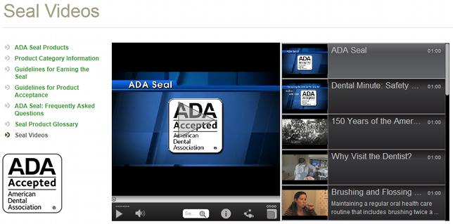 ADA Seal Videos Page