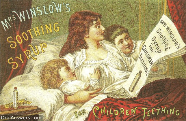 Mrs. Winslow's Soothing Syrup for Teething Children - Dental History