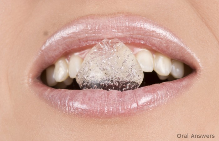 Chewing Ice Cubes Hurts Teeth
