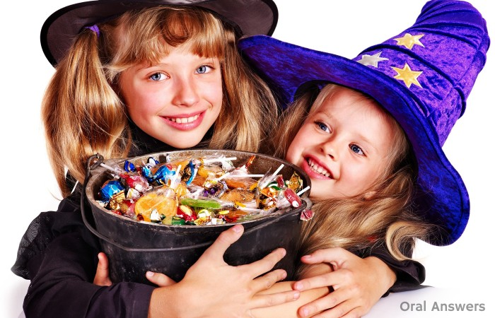 Halloween Candy and Teeth