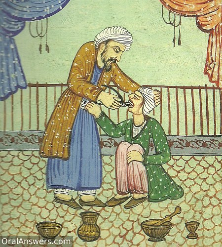 Persian Dentist Extracting Tooth - Dental History