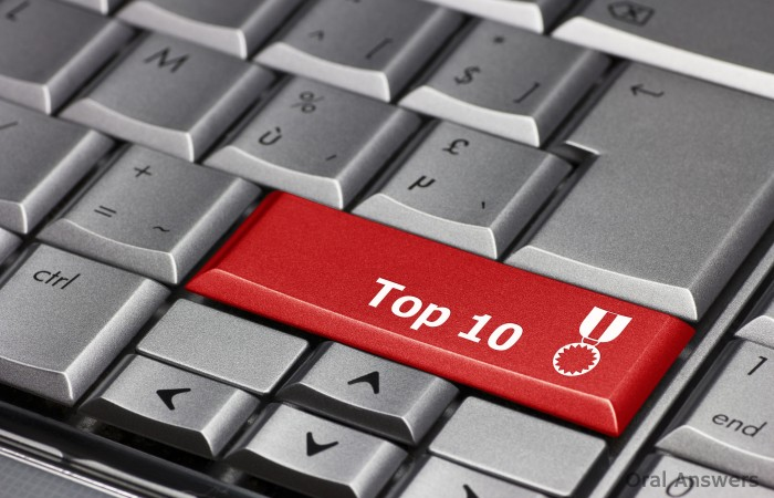 Oral Answers Top 10 Lists